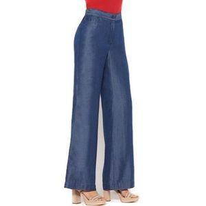 Iman Chambray Wide Leg Pants NWT